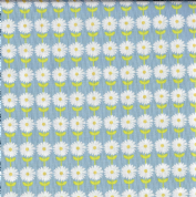 Fabric Freedom Vegetable Patch - 4616 - Rows of White Dasies on Sky Blue - FF109-3 - Cotton Fabric